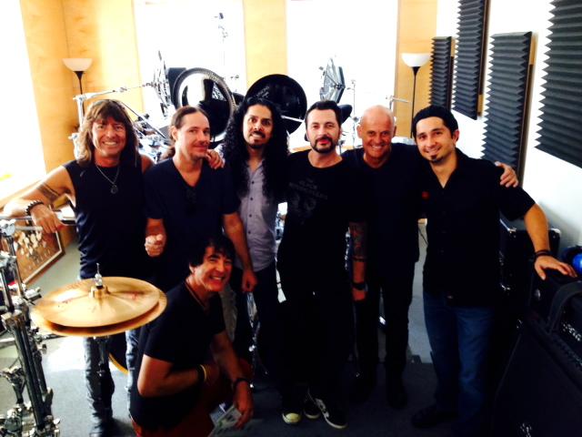 L-R: Brian Hitt, Derek Roddy, Victor Salazar, John Tempesta, Tris Imboden, German Baratto, yours truly kneeling