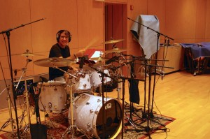 In the studio 2016 with DW Drum set