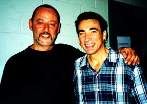 2000 actor Jean Reno and I backstage at Johnny Hallyday tour, Montreal,QC