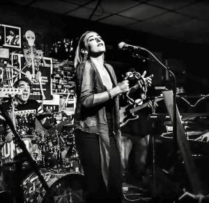 Lilliana singing with WallyWorld at The Baked Potato, 2017