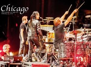 Chicago at Venetian Hotel, Las Vegas 2018, Robert Lamm, Danny de los Reyes, and I.