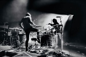 My brother Danny and I during our drum/percussion solo with Chicago.