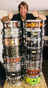 2018 photo of my favorite snare drums from my collection 2018