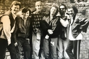 Promo photo of Traffic 1994 Tour. L to R Steve Winwood, Michael McEvoy, Myself, Randall Bramblett, Rosko G., Jim Capaldi