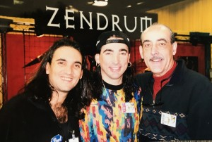 At NAMM Show in Anaheim 1994 with Horacio El Negro Hernandez and my Father Walfredo de los Reyes SR.