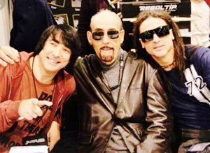 At NAMM Show, me, my Dad Walfredo Sr. and brother Danny early 2000 something.