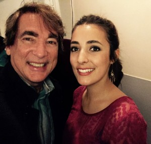 My daughter and I backstage at Saban Theatre after her show with George Benson.